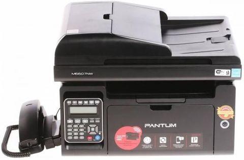 МФУ Pantum M6607NW - лазерное, монохромное, А4, копир/принтер/сканер, 22 стр/мин, 1200 X 1200 dpi, 256Мб RAM, лоток 150 стр, USB/LAN/WiFi, черный корпус, с автоподатчиком
