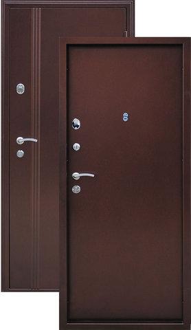 Дверь входная Иртыш стальная, медь антик, 2 замка, фабрика Город Мастеров