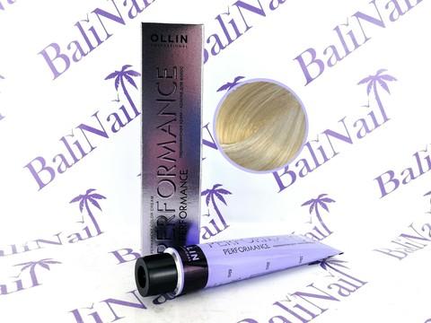 OLLIN PERFORMANCE 11/1 специальный блондин пепельный 60мл Перманентная крем-краска для волос