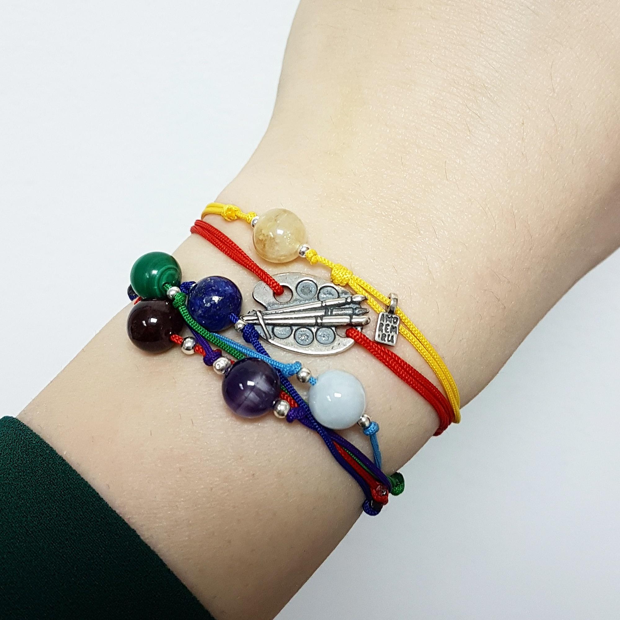 5th Chakra bracelet with Aquamarine