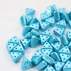 Бусина Emma Треугольник с 3 отверстиями, 6х3 мм, пастельно-голубая