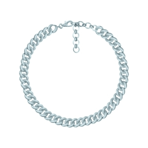 Колье-цепь Pave Chains из серебра с микроцирконами 10 мм