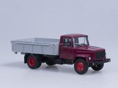 GAZ-3307 wooden board engine ZMZ-513 Exhibition dark red AutoHistory 1:43