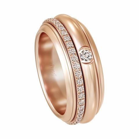 Кольцо из золочёного серебра с двигающимся центром