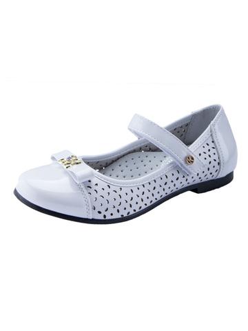 Туфли для девочек школьные белые