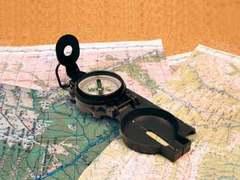 Армейский компас с металлическим корпусом AceCamp Military Compass