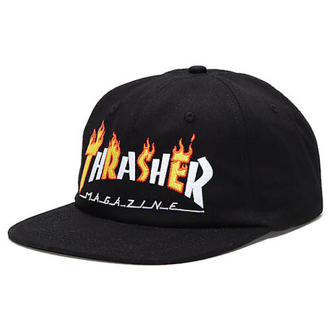 Кепка THRASHER Flame Mag Snapback (Black)
