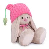 Зайка Ми в розовой шапочке с помпонами