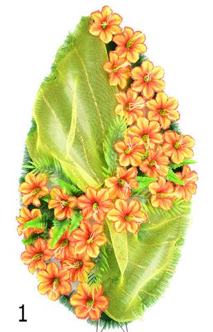 Венок украшенный цветами колокольчика