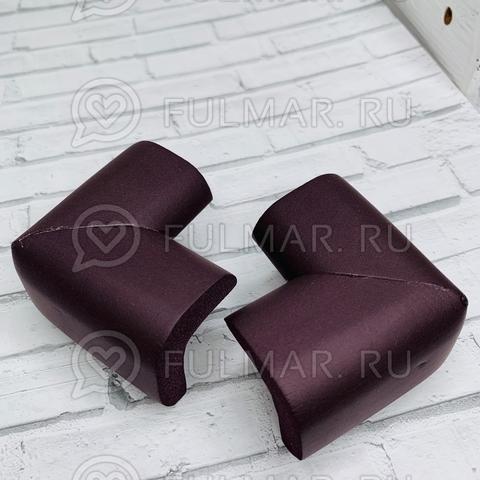 Защитные уголки на мебель 2шт Тёмный шоколад