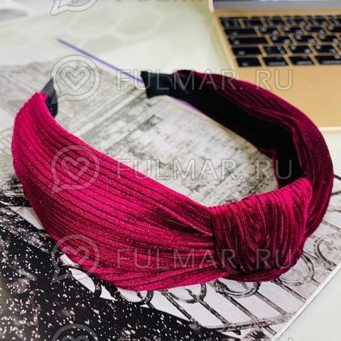 Ободок-чалма для волос (цвет: бордовый)