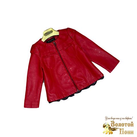 Куртка экокожа девочке (3-11) 200126-ST414