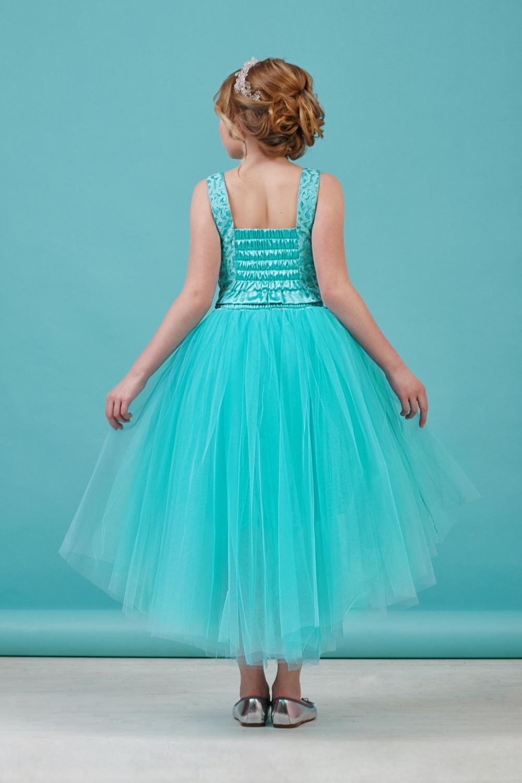 Комплект (блузка, юбка) мятный для девочки 64-8009-2
