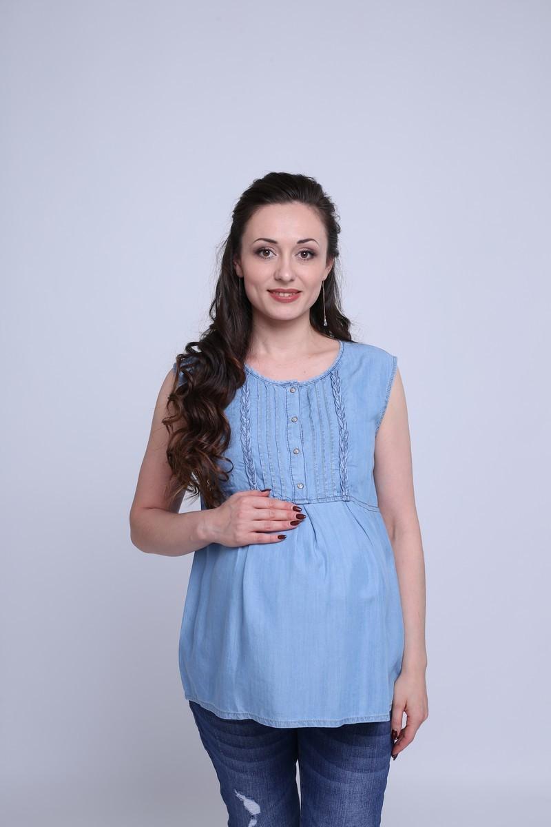 Блузка для беременных 09596 синий