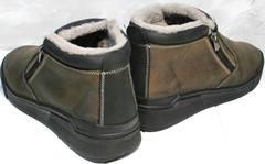 Ботинки мужские зимние кожаные классические Rifellini Rovigo 046 Brown Black