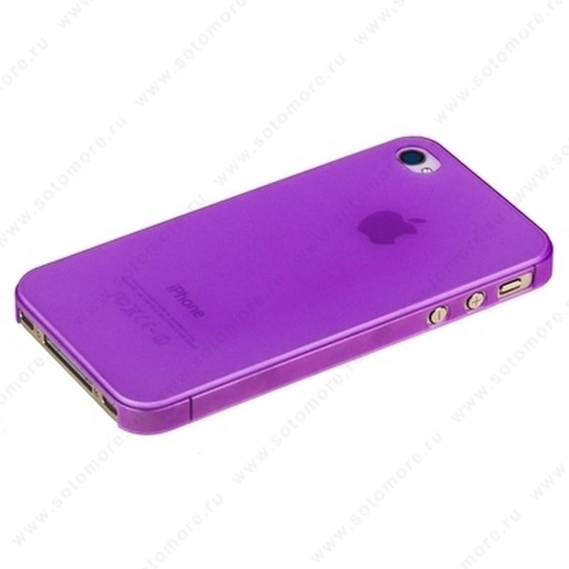 Накладка Sotomore супертонкая для iPhone 4s/ 4 фиолетовая