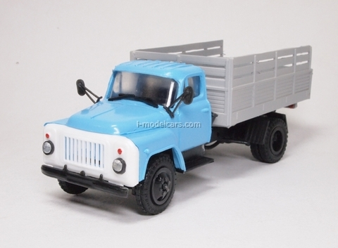GAZ-53 board high blue-gray Kompanion 1:43