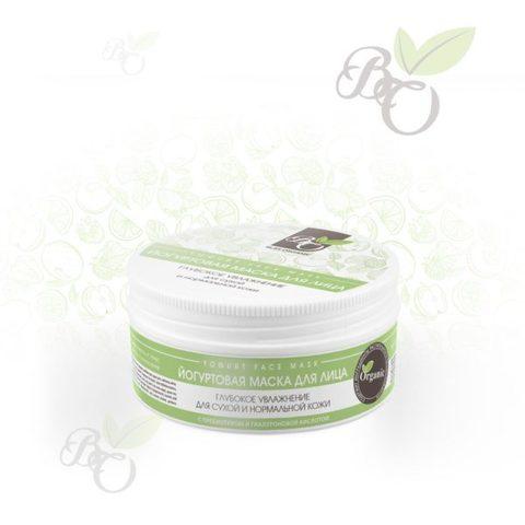 Органическая йогуртовая маска для лица «Глубокое увлажнение» для сухой и нормальной кожи, Bliss organic 100 мл