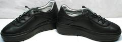 Утепленные кроссовки кеды с высокой подошвой женские Rozen M-520 All Black.