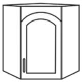 Чили ШВУС шкаф верхний угловой со стеклом