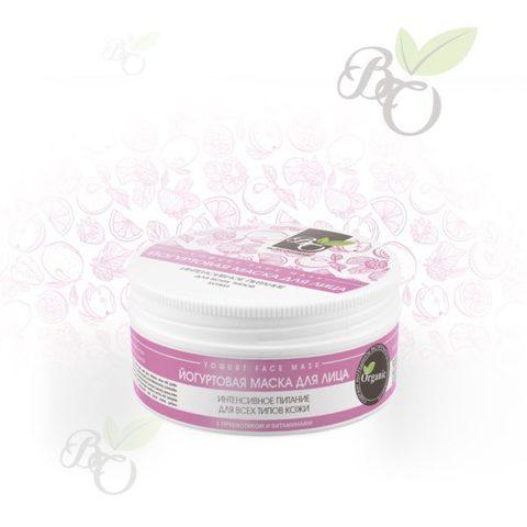 Органическая йогуртовая маска для лица «Интенсивное питание» для всех типов кожи, Bliss organic 100 мл