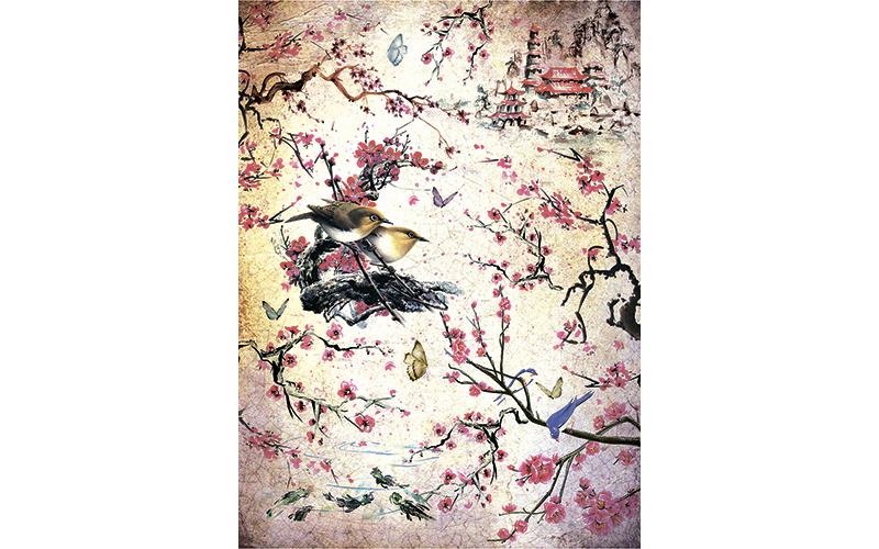 Рисовая бумага для декупажа Сакура, А3