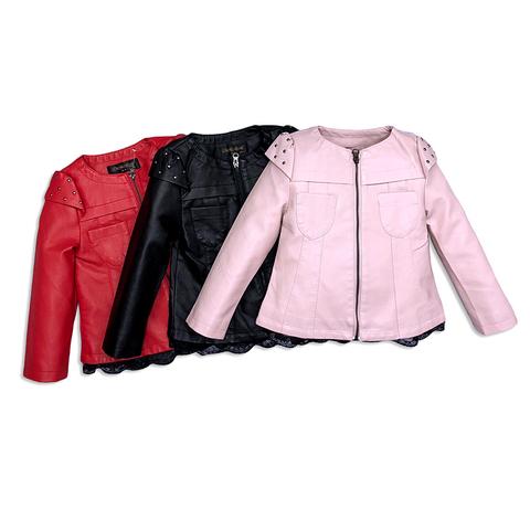 Куртка экокожа девочке (3-11) 200126-ST415