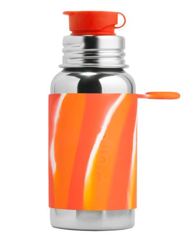 Стальная спортивная бутылочка  для детей и взрослых Pura Kiki 550 мл ОРАНЖЕВЫЙ ВИХРЬ