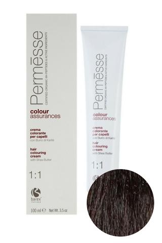 Крем-краска для волос 6.1 Темный блондин пепельный Permesse, Barex