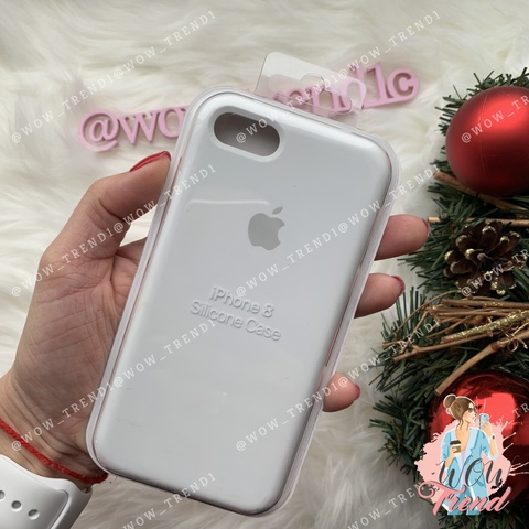 Чехол iPhone 7/8 Silicone Case /white/ белый 1:1