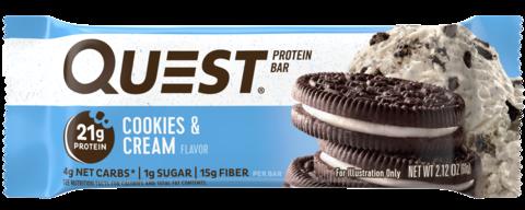 Протеиновые батончики Quest Bar Cookies & Cream (Печенье крем), 1 шт