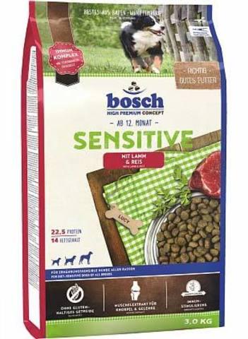 15 кг. BOSCH Сухой корм для взрослых собак, склонных к аллергии с ягненком и рисом Sensitive Lamb&Rice
