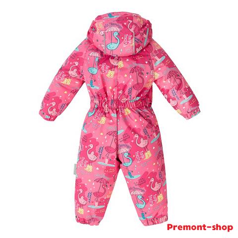 Демисезонный комбинезон Premont для девочек Фламинго SP71021