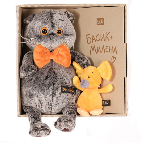 Кот Басик с мышкой Миленой