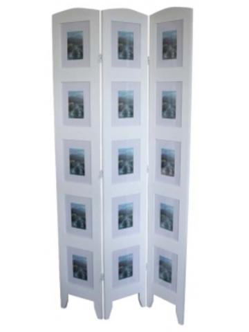 Ширма 1027-3 White деревянная белый