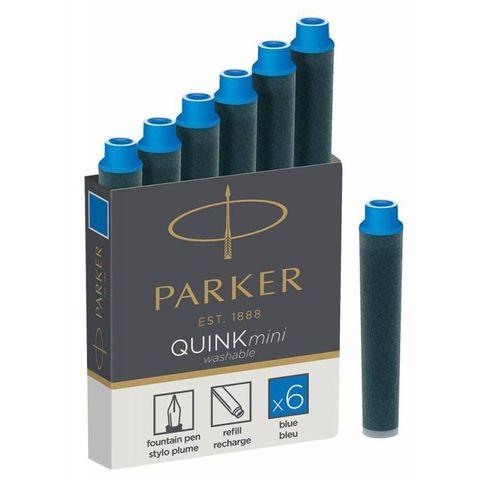 Картридж для перьевой ручки Parker Z17 MINI чернила Blue (6шт) (1950409)