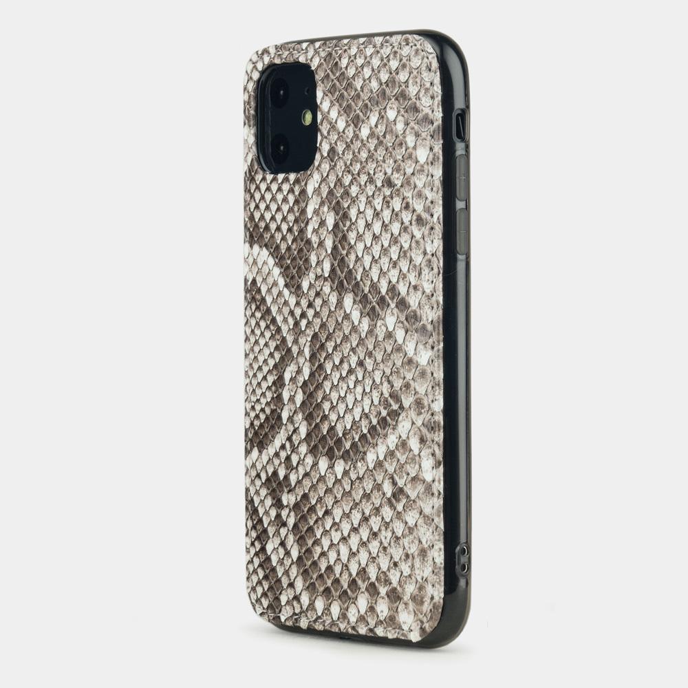 Чехол-накладка для iPhone 11 из натуральной кожи питона, цвета Natur