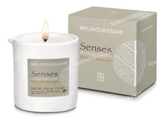Свеча для массажа Жасмин (Bruno Vassari | Senses | Massage candle Jasmine), 200 г
