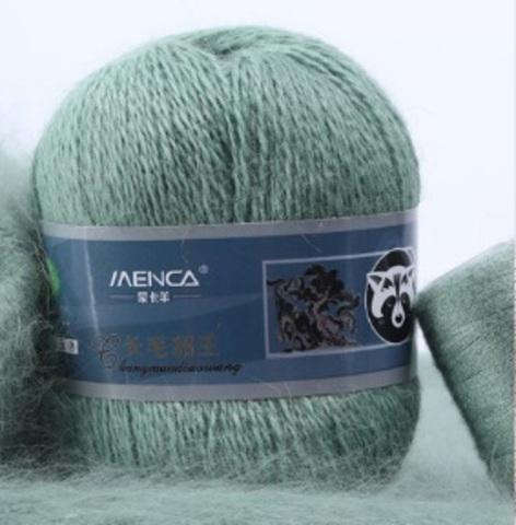 Пряжа Пух норки 832 серо-зеленый