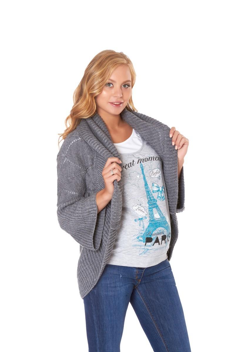 Кардиган для беременных 07614 серый
