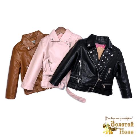 Куртка экокожа девочке (3-11) 200126-ST417