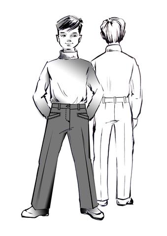 Выкройка школьных брюк для мальчика