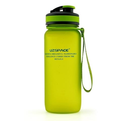 Бутылка для воды Uzspace (матовый зеленый), 650 мл