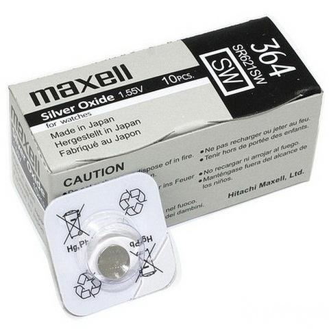 Батарейки часовые Maxell SR621SW-B1 (364) 1x10 Japan