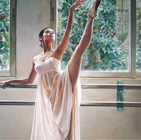 Алмазная Мозаика 40x50 Балерина на тренировке (арт. S3007)