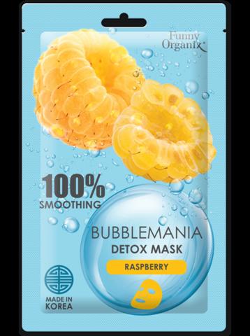 Funny Organix BubbleMania Кислородная тканевая детокс-маска Сладкая малина 25г