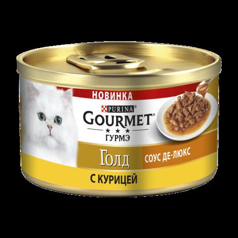 Gourmet Gold Консервы для кошек с Курицей в соусе Де-люкс