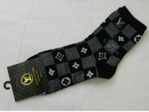 Мужские носки черные LOUIS VUITTON