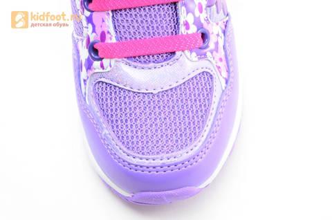 Светящиеся кроссовки для девочек Пони (My Little Pony) на липучках, цвет сиреневый, мигает картинка сбоку, 5868A. Изображение 11 из 15.