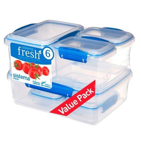 Набор контейнеров Fresh 6 предметов, артикул 921760, производитель - Sistema